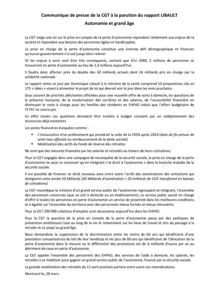 28 03 19 cp parution du rapport libault page 001