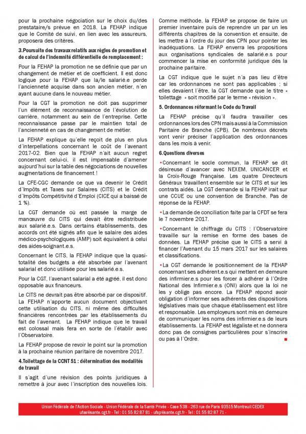Compte rendu cgt de la commission paritaire ccn 51 du 18 septembre 2017 page 002