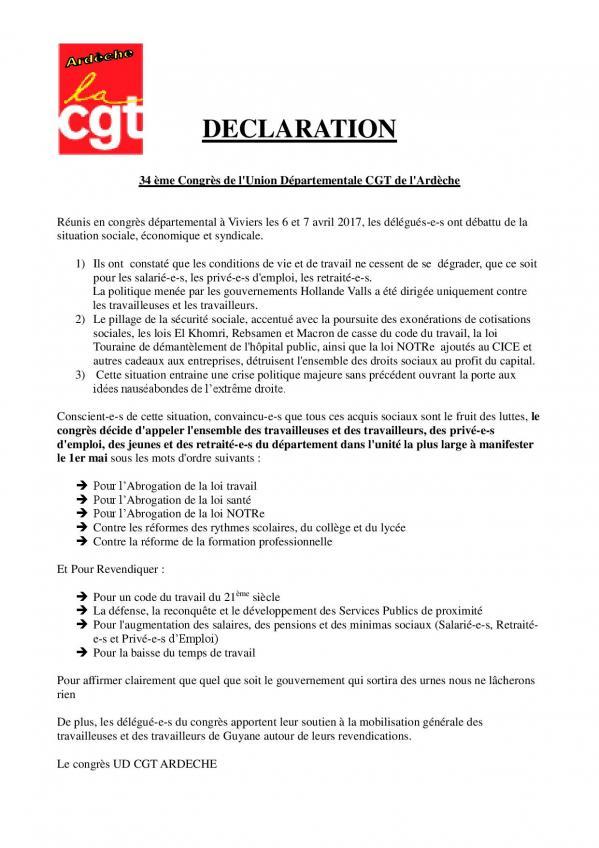 Declaration 34eme congres de l ud cgt 07 page 001