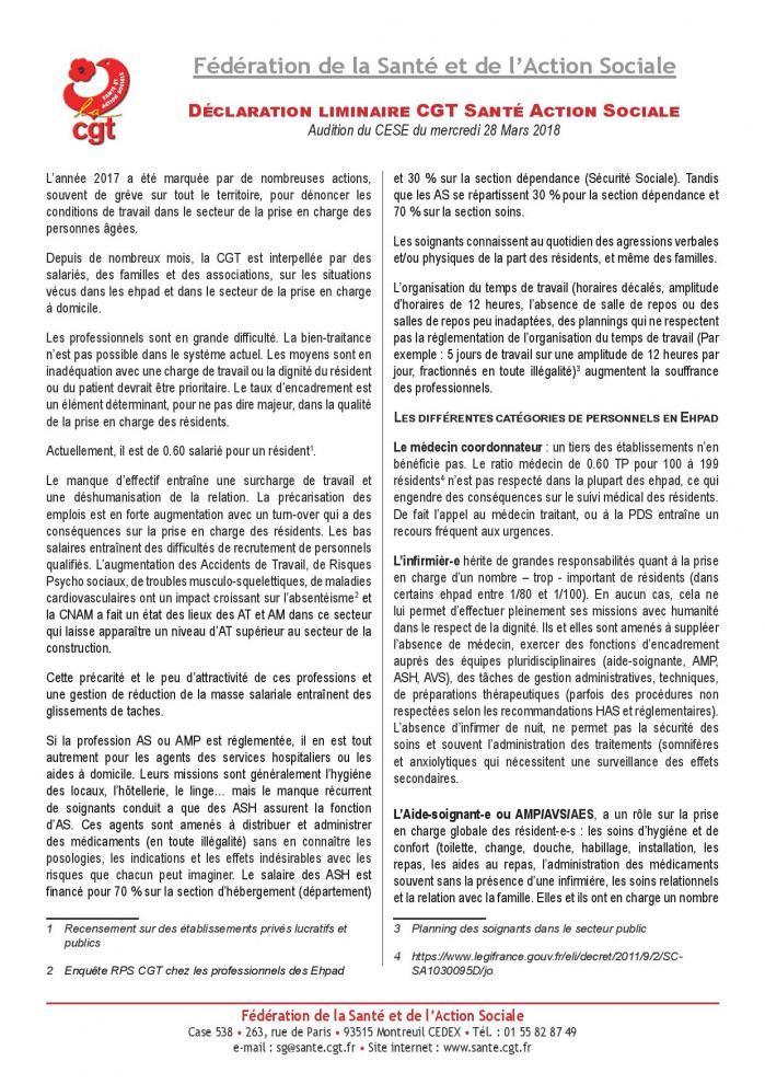 Declaration liminaire cgt sante action sociale cese page 001