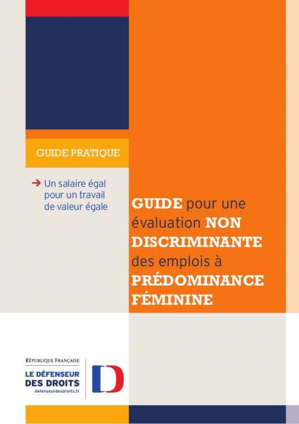Guide pour une valuation non discriminante des emplois prdominance fminine 1 638