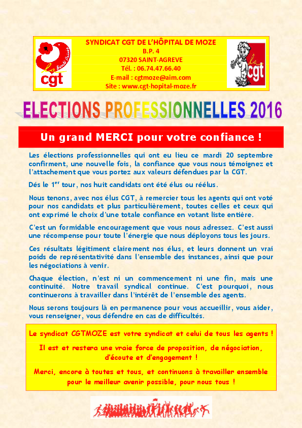 Remerciement election 2016