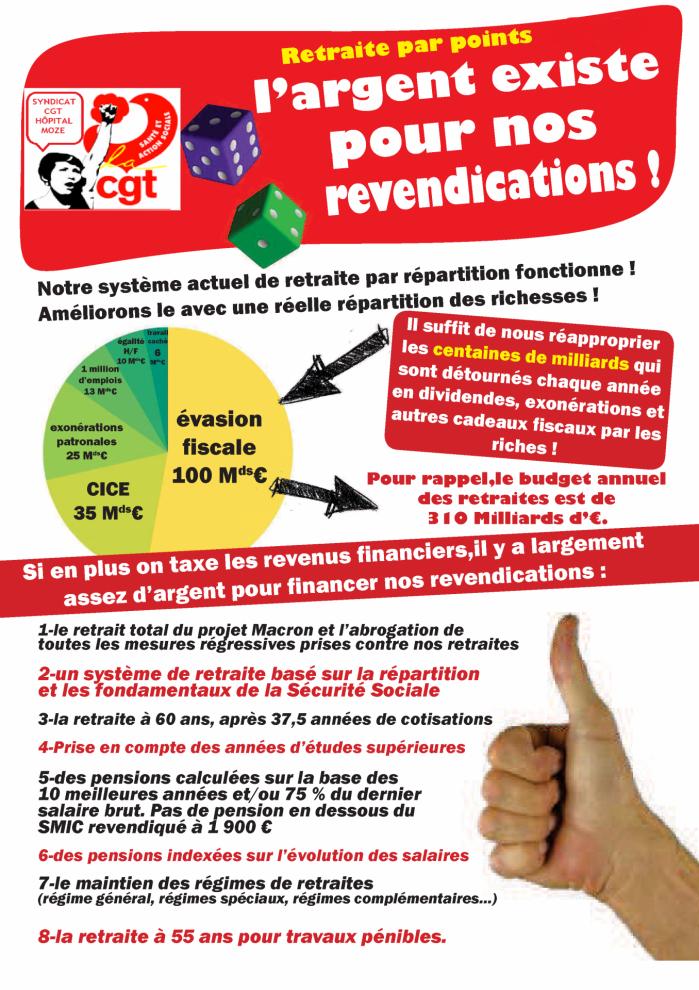 Tract cgt retraite ep3 revendications et financement