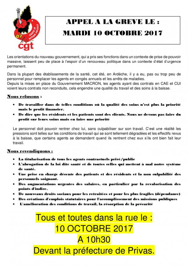 Tract du 10 octobre 2017 page 001