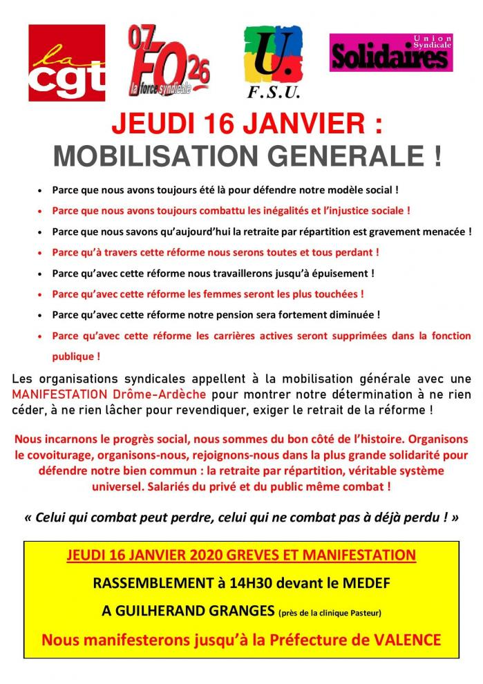 Tract intersyndicale du 16 01 page 001
