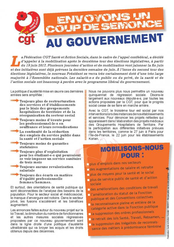 Tractenvoyons un coupe de semonce au gouvernement 06 2017 page 001
