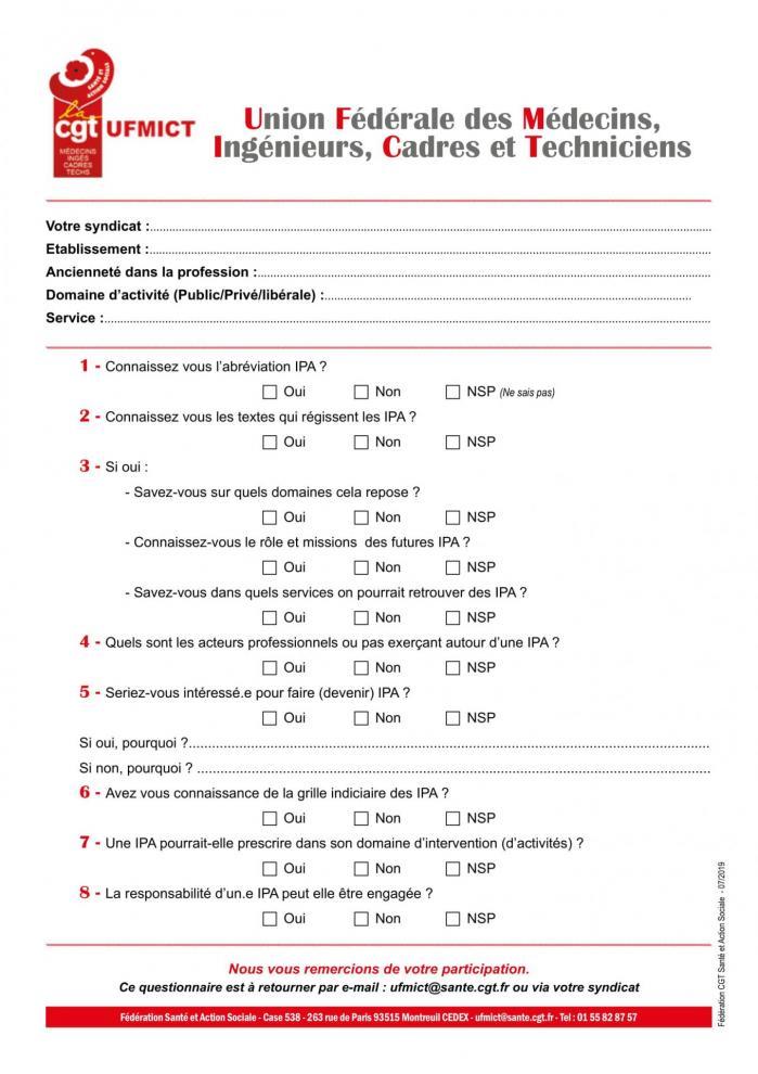 Ufmict questionnaire ipa 0719 1