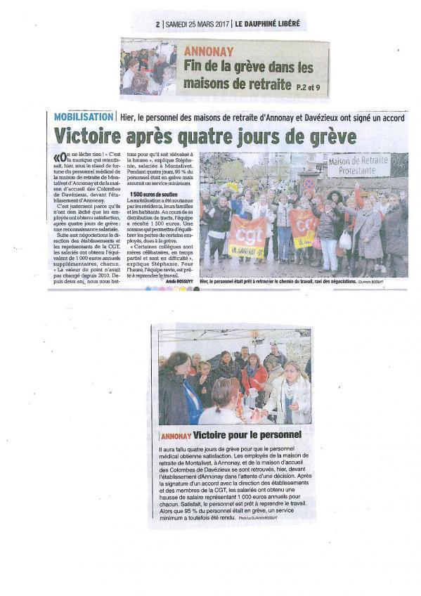 Victoire après 4 jours de grève