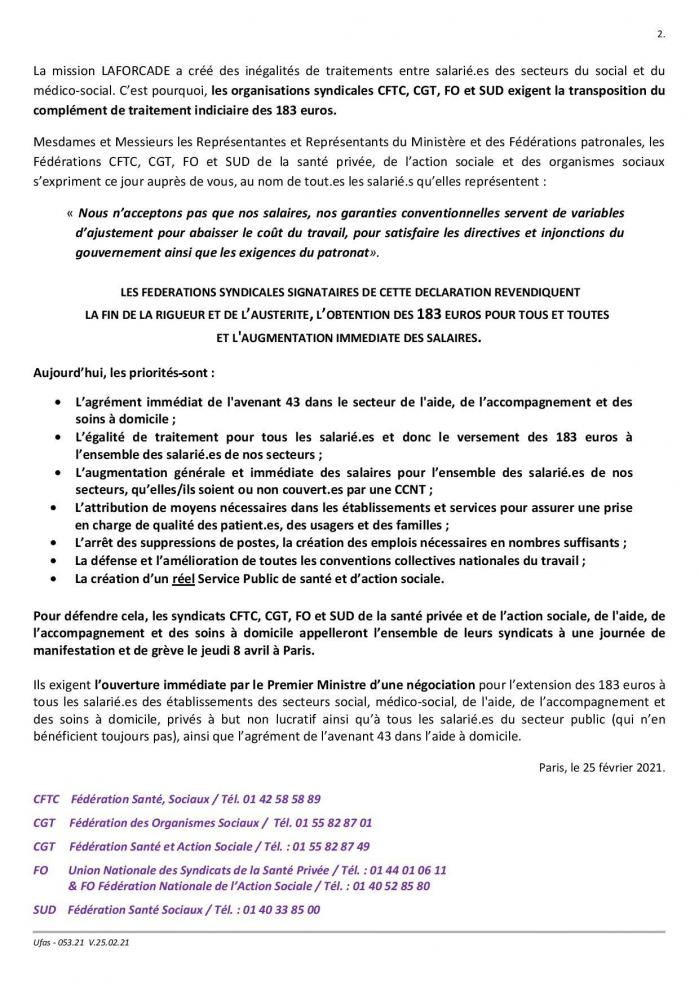 053 21 declaration conference salariale intersyndicale cftc cgt fo sud du 25 02 21 page 002