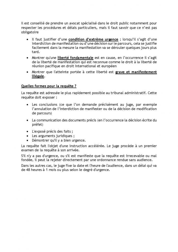 17 01 20 est il possible de contester un arrete d interdiction de manifester ou une modification de parcours de la manifestati page 002