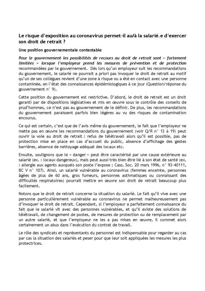 19 03 20 fiche dlaj coronavirus droit de retrait et action syndicale et du cse page 002