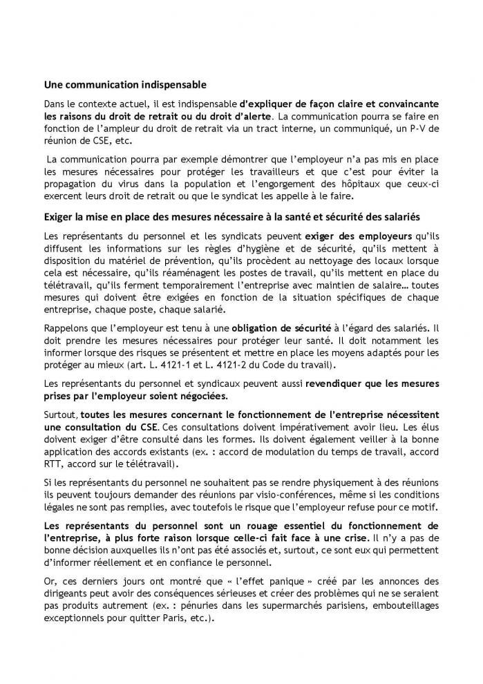 19 03 20 fiche dlaj coronavirus droit de retrait et action syndicale et du cse page 004