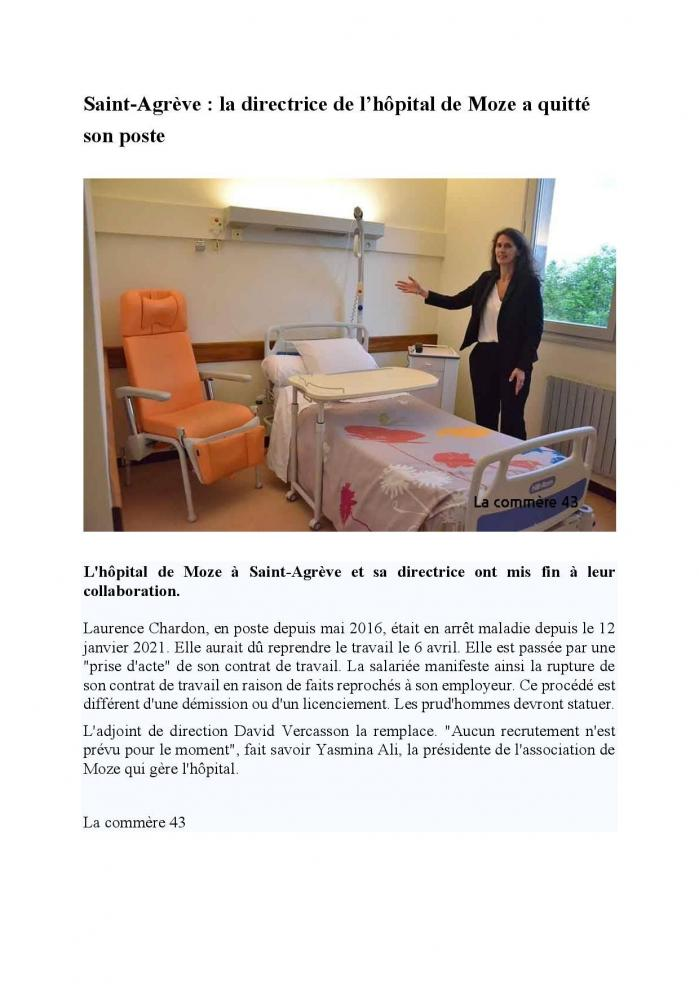 Article la commere 43 depart direction moze page 001