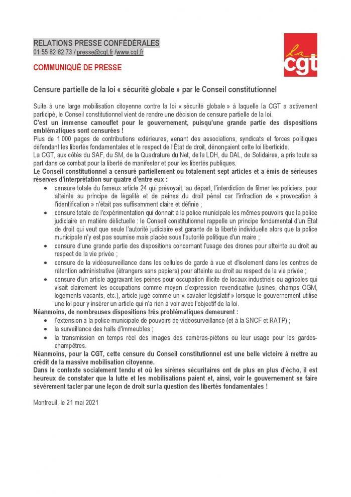 Cgt loi sg censure partielle 21 mai 2021 page 001