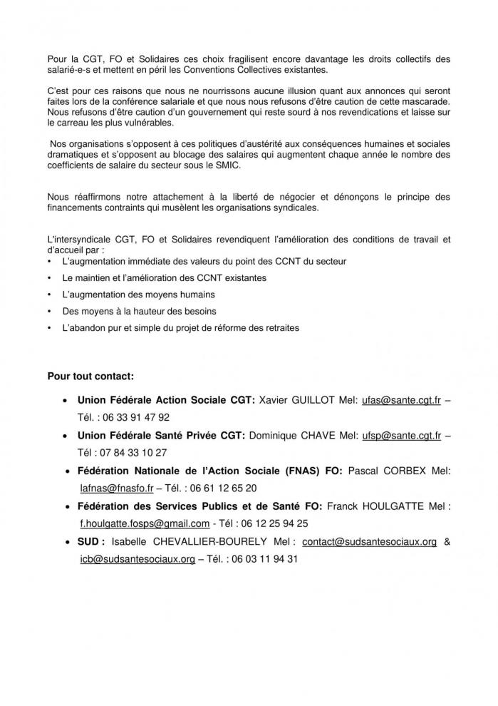 Communique de presse intersyndical cfgt fo sud conference salariale 27 fevrier 2020 2