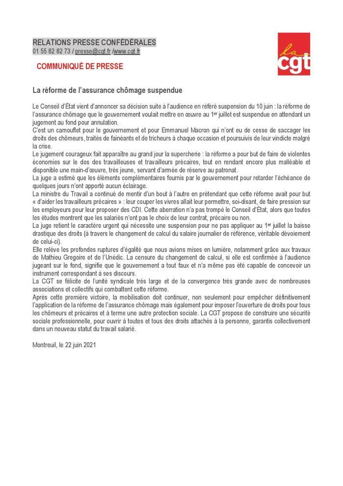 Cp cgt reforme de l assurance chomage suspendue page 001