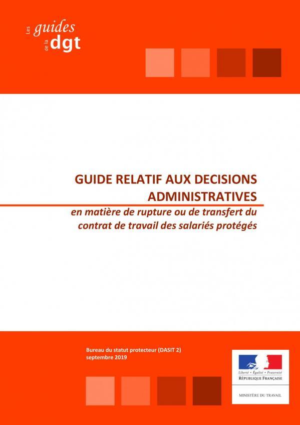 Guide decisions administratives en matiere de licenciement des salaries proteges v2019 09 20 001