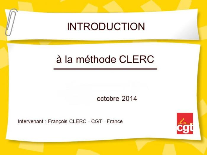 Introduction a la methode clerc courts and charters