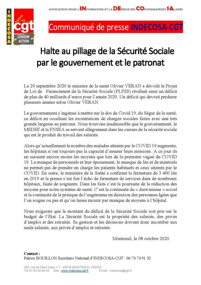 Projet de loi de financement de la securite sociale page 001