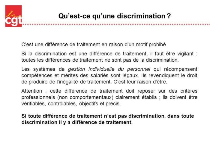 Qu est ce qu une discrimination