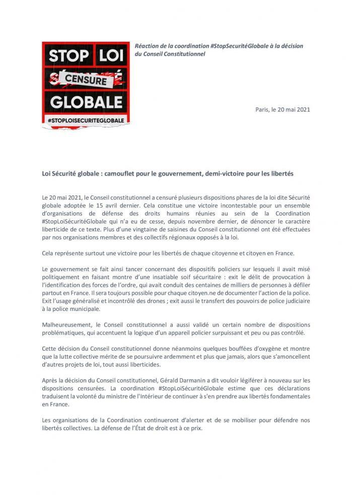 Stoploise cuglobale censure conseil constitutionnel 20 mai 2021 page 001
