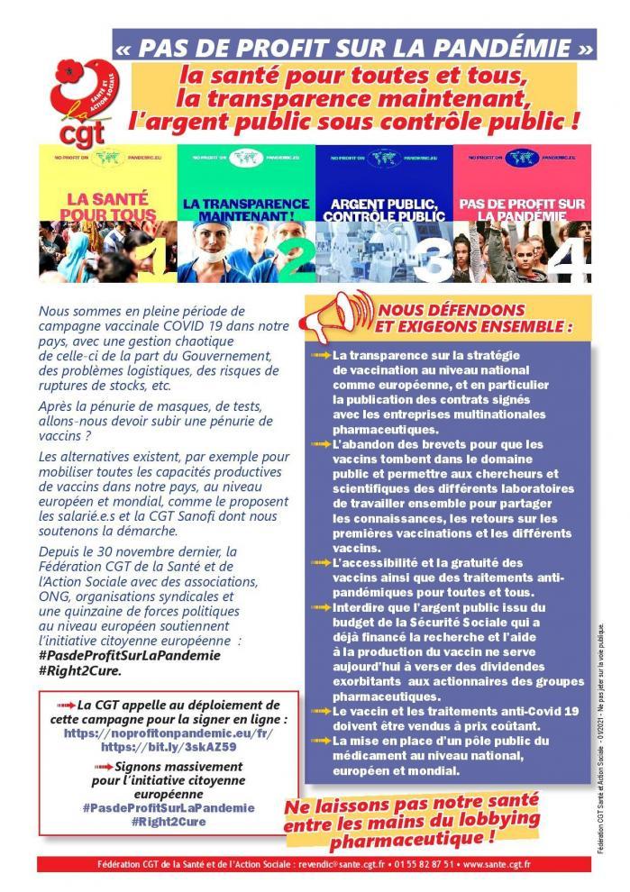 Tract campagne pas de profit sur la pandemie 15012021 page 001