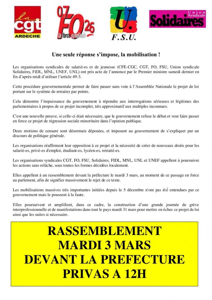 Tract intersyndicale 1