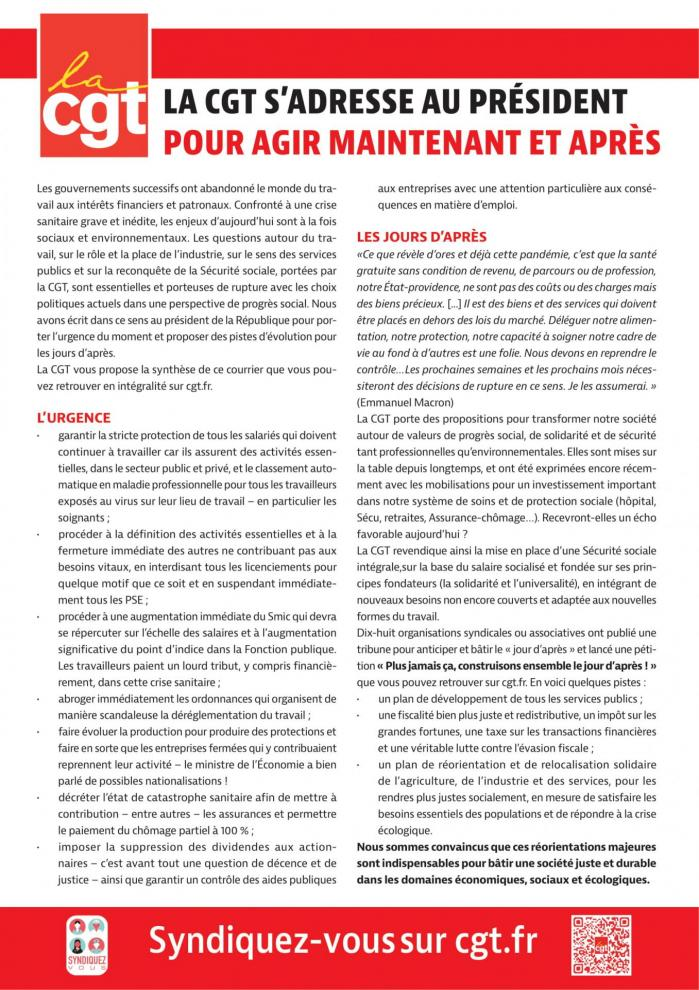 Tract lettre au president 1