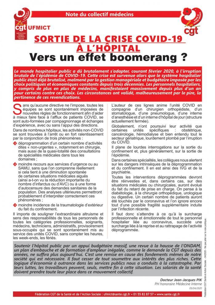 Tract note ufmict sortie de la crise covid 19 a l hopital 04 2020 2 1